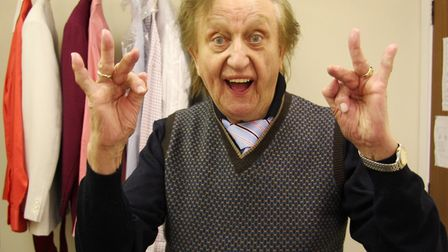 Sir Ken Dodd in his dressing room at the Marina Theatre in Lowestoft before one of his shows. Pictur