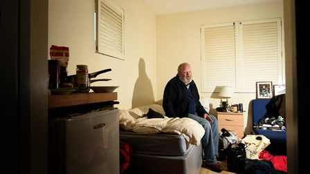 St Martins expanded its Bishopbridge hostel last year. Service user, Peter, pictured in his room. Pi