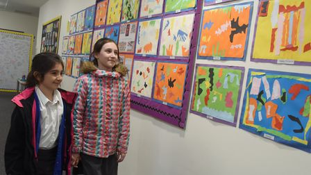 Ashleigh Primary School pupils, sisters Mia, left, and Mili Seach, at the PATHS (promoting alternati