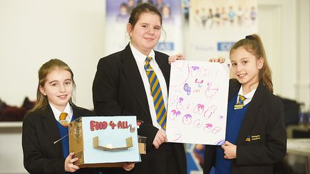 The 7 Billion Ideas event at Providence Street in King's Lynn. Pictured are Eastgate Academy year 6