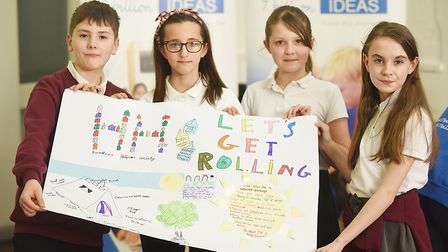 The 7 Billion Ideas event at Providence Street in King's Lynn. Pictured are Fairstead Primary School
