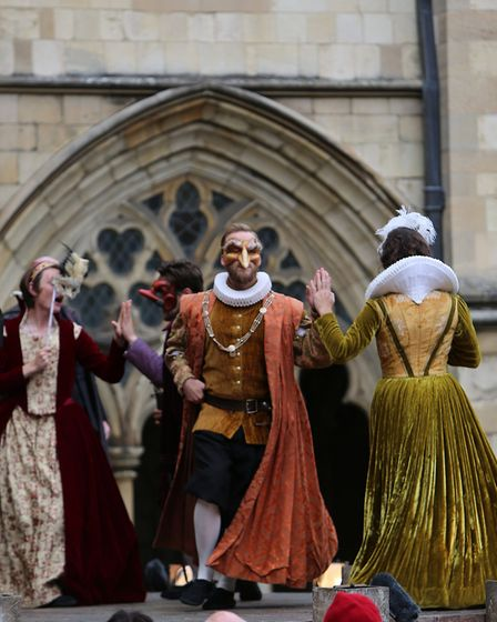 The Lord Chamberlain's Men perform Much Ado About Nothing at the 2016 Shakespeare Festival at Norwic