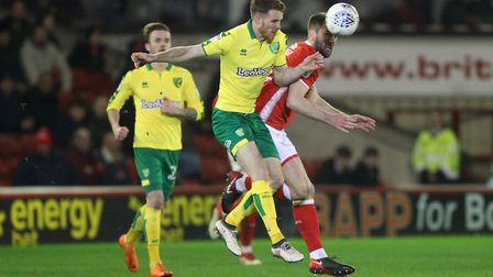 Marley Watkins of Norwich in action during the Sky Bet Championship match at Oakwell, Barnsley. Pict