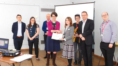 Judges for the Norwich Opportunity Area Youth Board meet students. Picture: New Anglia LEP