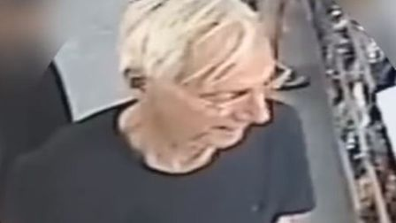 CCTV image of Peter Wrighton at Kenninghall Post Office shortly before his death (Picture: Norfolk P