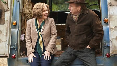 Imelda Staunton as Sandra Abbott and Timothy Spall as Charlie in Finding Your Feet. Photo: Entertain