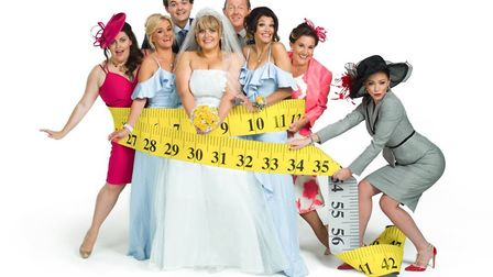 Kevin Kennedy with the cast of the musical of Kay Mellor's Fat Friends. Photo: Submitted