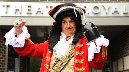 Former Coronation Street actor, Kevin Kennedy, as Captain Hook, in the Norwich Theatre Royal panto P