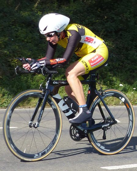 Jenny Anderson – Great Yarmouth CC Ladies Shield winner, in action in the Waveney Valley. Picture: F