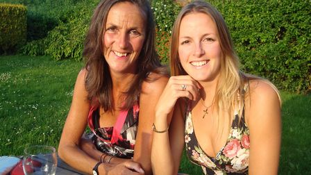 Jenny Hinton, left, with daughter Amy. Picture: Courtesy of the family