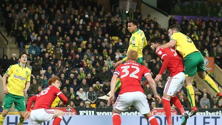 Josh Murphy's first half header was the closest City came to a goal against Forest. Picture by Paul