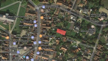 The location of the chapel, highlighted in red. Photo: Google