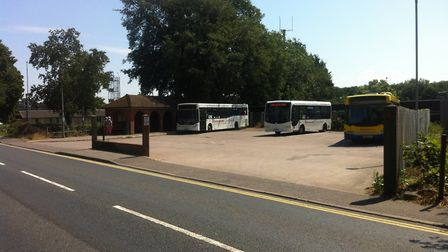 A file photo of Diss bus station in Park Road