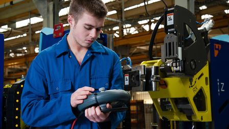 A City College Norwich engineering apprentice. Picture: Keith Whitmore