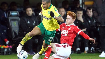 Onel Hernandez is fouled by Jack Colback as Nottingham Forest become the latest side to hold Norwich