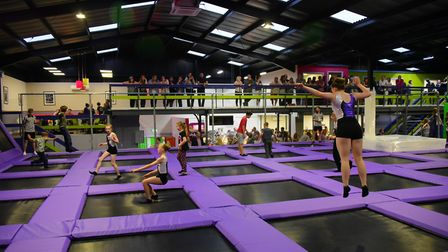 The new High Altitude trampolining centre opens in Whiffler Road, Norwich.Picture by SIMON FINLAY.