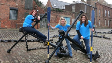 The Norfolk Broards - Sandra Squire, Helen Hogan and Kate Palmer - will row 3000 miles across the At