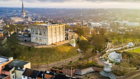 Norwich Castle & Cathedral Photo: HexCam
