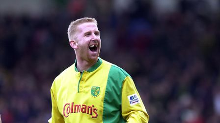 Iwan Roberts during his playing days at Norwich City. Picture: Archant