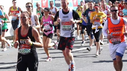 Iwan Roberts in action at the London Marathon, an experience he will never forget. Picture: Archant