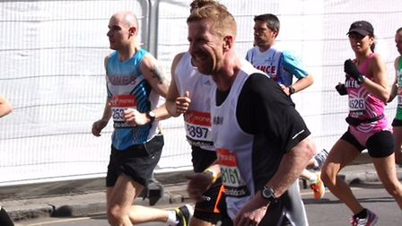 Iwan Roberts at the London Marathon. Picture: Archant