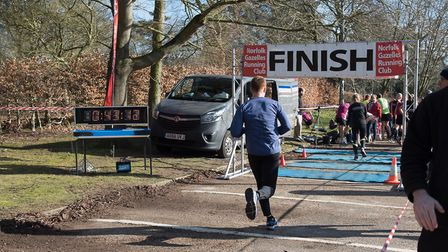 Mark Armstrong on the home straight of the Valentine 10K. Picture: Alison Armstrong