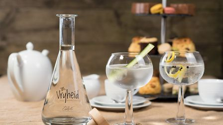 Vryheid, the gin which is produced by South African businesswoman Lindi Hancke from her Wymondham ho