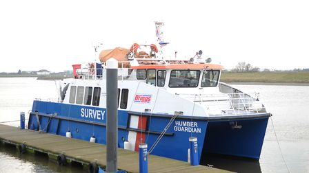 The Humber Guardian survey vessel docked at King's Lynn. Picture: Chris Bishop
