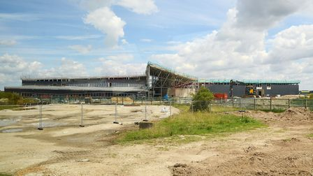 Infrastructure works at RAF Marham in preparation for the Lightning aircraft that will arrive this
