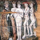 A naked king, queen, bishop and cardinal are poised for salvation.