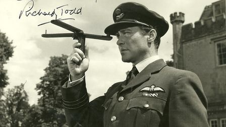 An autographed still from The Dam Busters, starring Richard Todd.