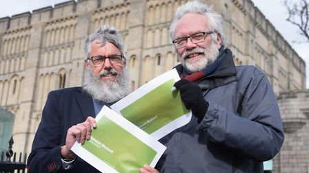 Robert Ashton, left, and Steve Morphew, who together want to launch Norwich Mustard. Picture: DENISE