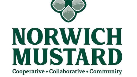 The Norwich Mustard logo, which has been designed as part of the campaign to retain mustard producti