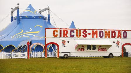 The Circus Mondao has set up opposite the Knights Hill Hotel in King's Lynn. Picture: Ian Burt