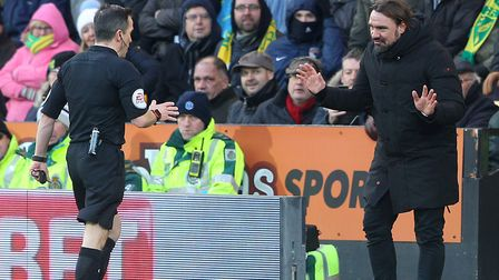 Daniel Farke was sent off for kicking the ball away in the closing stages of Norwich City's 0-0 draw