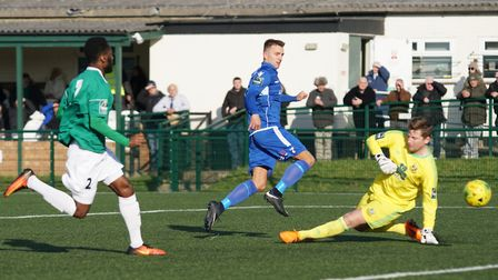 Jake Reed opens the scoring against Hendon. Picture: Shirley D Whitlow