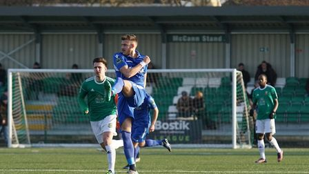 Lowestoft's Shaun Bammant in action against Hendon. Picture: Shirley D Whitlow