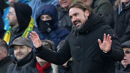 Despite his apology, Norwich City head coach Daniel Farke is sent to the stands for kicking the ball