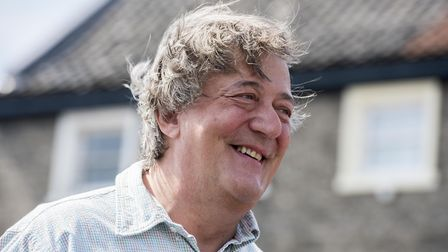 Stephen Fry pictured in Swaffham in 2015. Picture: Matthew Usher.