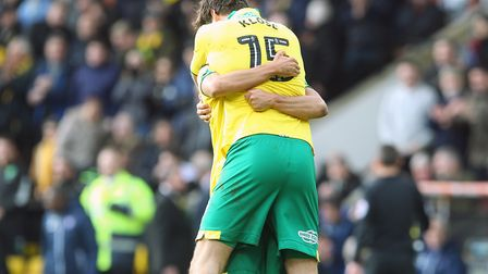 Timm Klose celebrates his injury time equaliser against Ipswich Town. Picture: Paul Chesterton/Focus