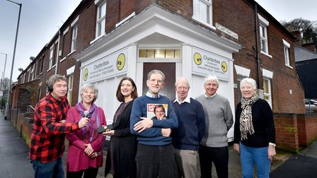 Chatterbox, The Norwich Talking Newspaper. Left to right, Tim Edwards, Alison Aplin, Angie Kennedy,