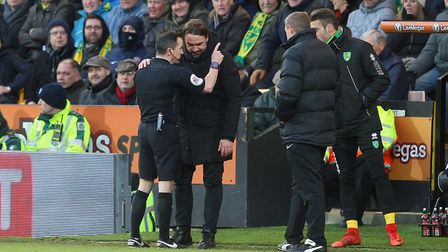 Daniel Farke got his marching orders from the referee in the closing stages of a frustrating 0-0 lea