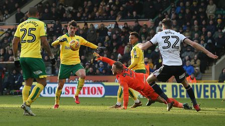 Nelson Oliveira was denied by Ben Alnwick. Picture: Paul Chesterton/Focus Images Ltd