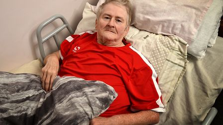 Carol Leggett who has been left unable to walk after a hip operation.Picture: ANTONY KELLY