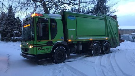 A Norse refuse lorry in Waveney on Tuesday. Picture: Norse