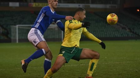 Irish striker Adam Idah led the line for the young Canaries.