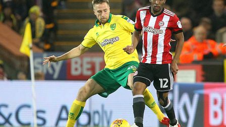 Marco Stiepermann's last start for Norwich City was during a 2-1 home loss to Brentford in December.