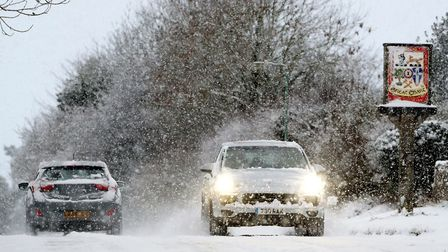 Heavy snowfalls have caused widespread disruption and blocked many routes. Picture: Gareth Fuller/PA