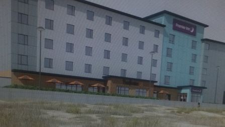The Premier Inn planned for the seafront. Collado Collins Architects
