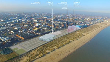 Proposed Massing of The Edge development in Great Yarmouth. Photo: Collado Collins Architects